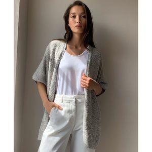 Aritzia Community Grey Ionic Cape Sweater